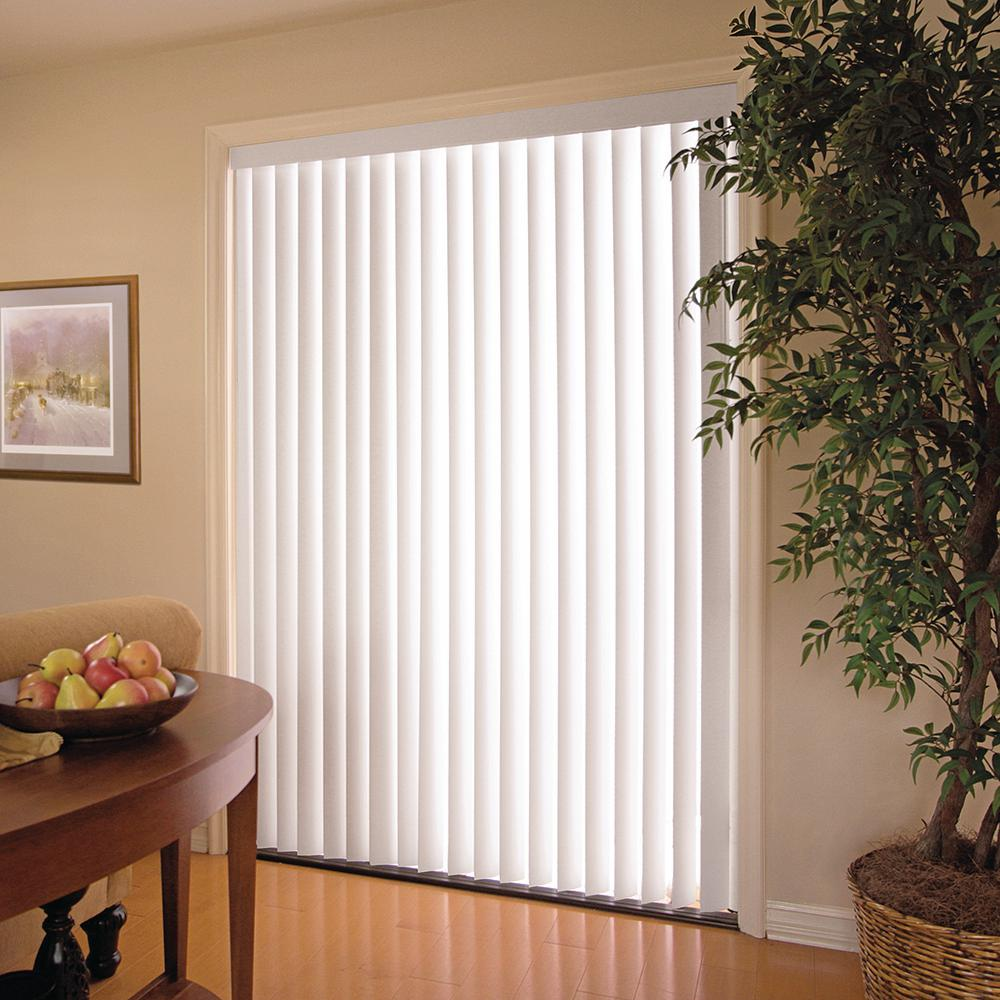 Cheap Vertical Window Blinds.Details About Vertical Window Blind 78 X 84 In White Pvc Blinds Privacy Light Filtering Shade