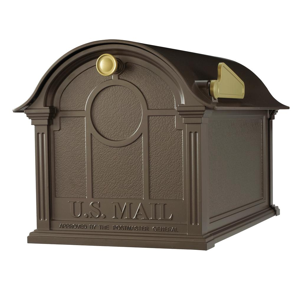 Post Mount Mailbox Extra Large Classic Non Locking Durable Cast Aluminum Bronze Ebay