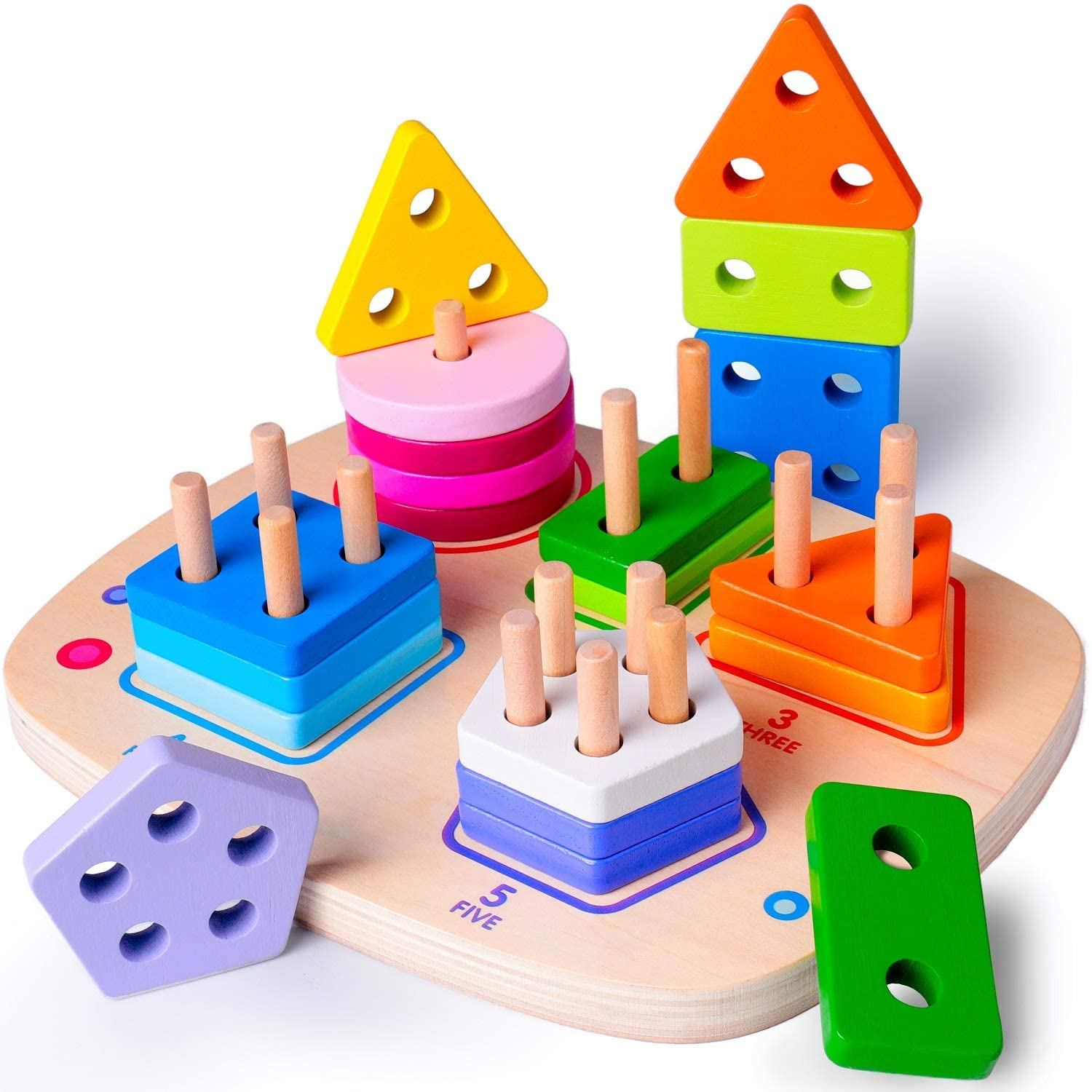 Wooden Educational Toys for 1 2 3 4 Year Old Boys Girls ...