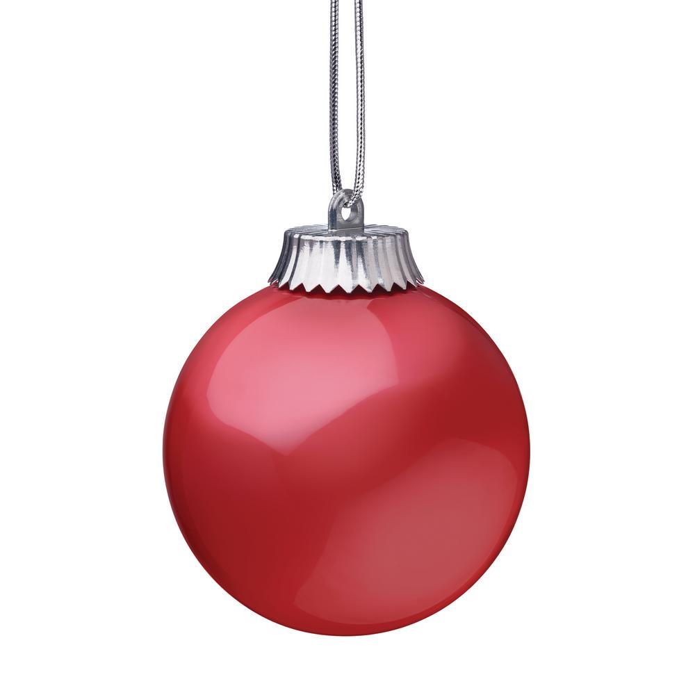5in Red LED Hanging Globe Ornament Outdoor Tree Christmas ...