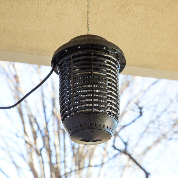 Details about Hanging Plastic Outdoor Insect Trap Bug Pest Zapper 40W UV  Bulb Removable Tray