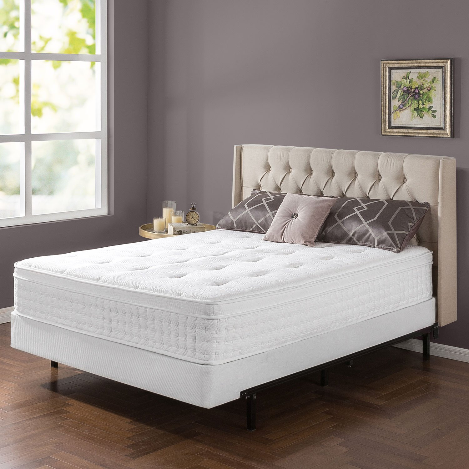 Zinus Night Therapy 12 In Spring Mattress King Size Euro