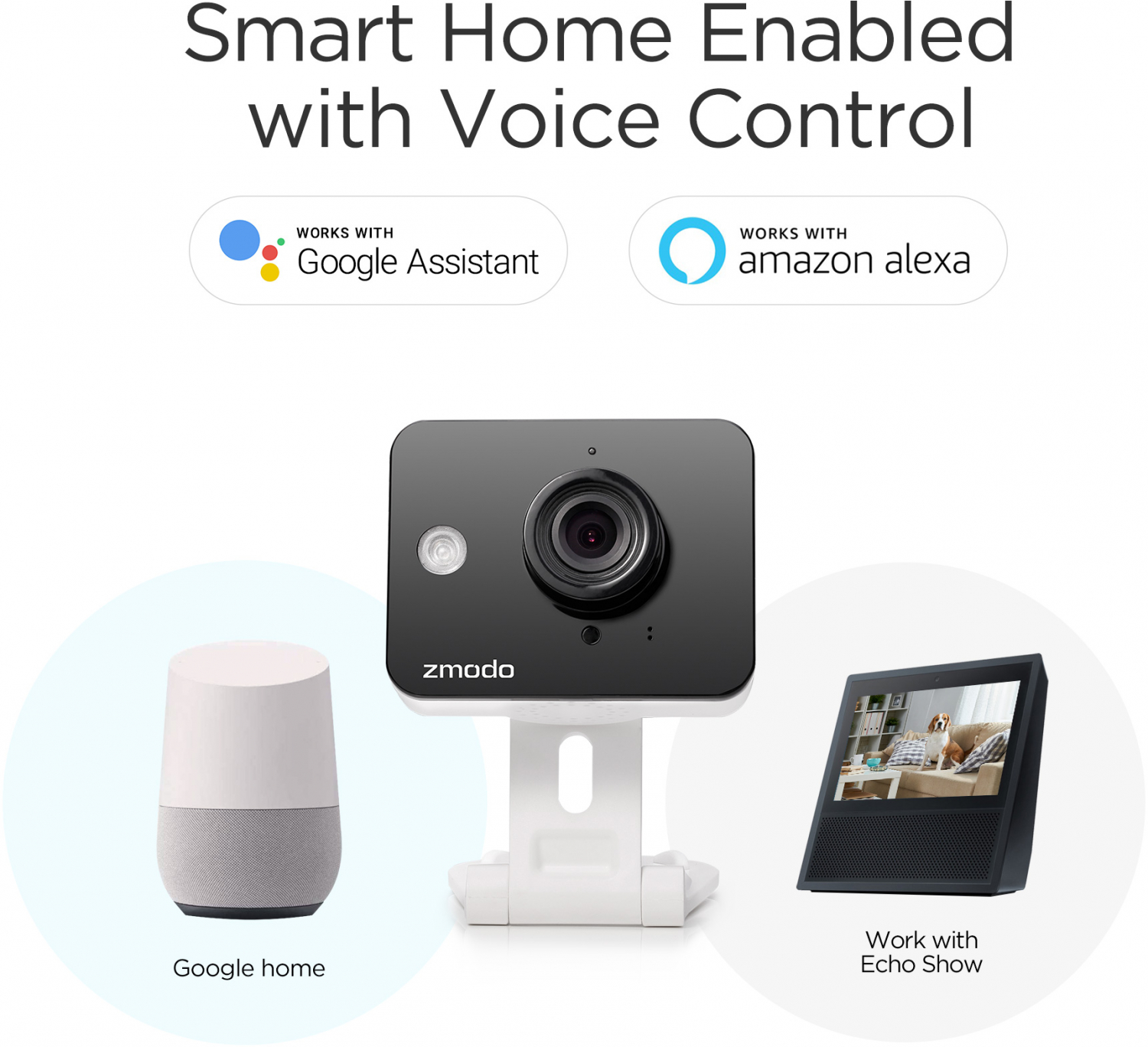 Details about WiFi Wireless Smart Security Camera- Zmodo - 720P HD 2-Way  Audio (2- Pack)