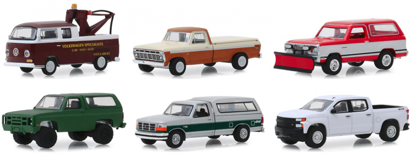 BLUE COLLAR COLLECTION SERIES 5 SET OF 6 CARS 1//64 DIECAST BY GREENLIGHT 35120