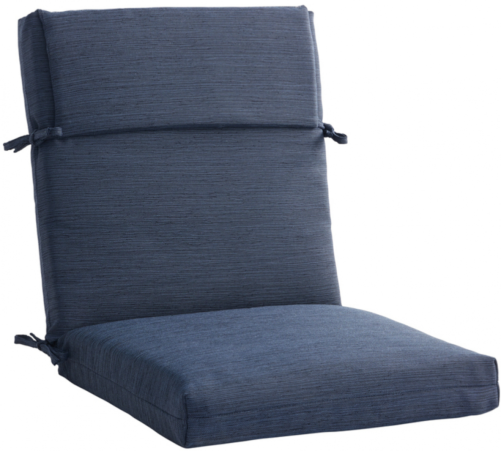 Details About Allen Roth 1 Piece Madera Linen Navy Patio Chair Cushion