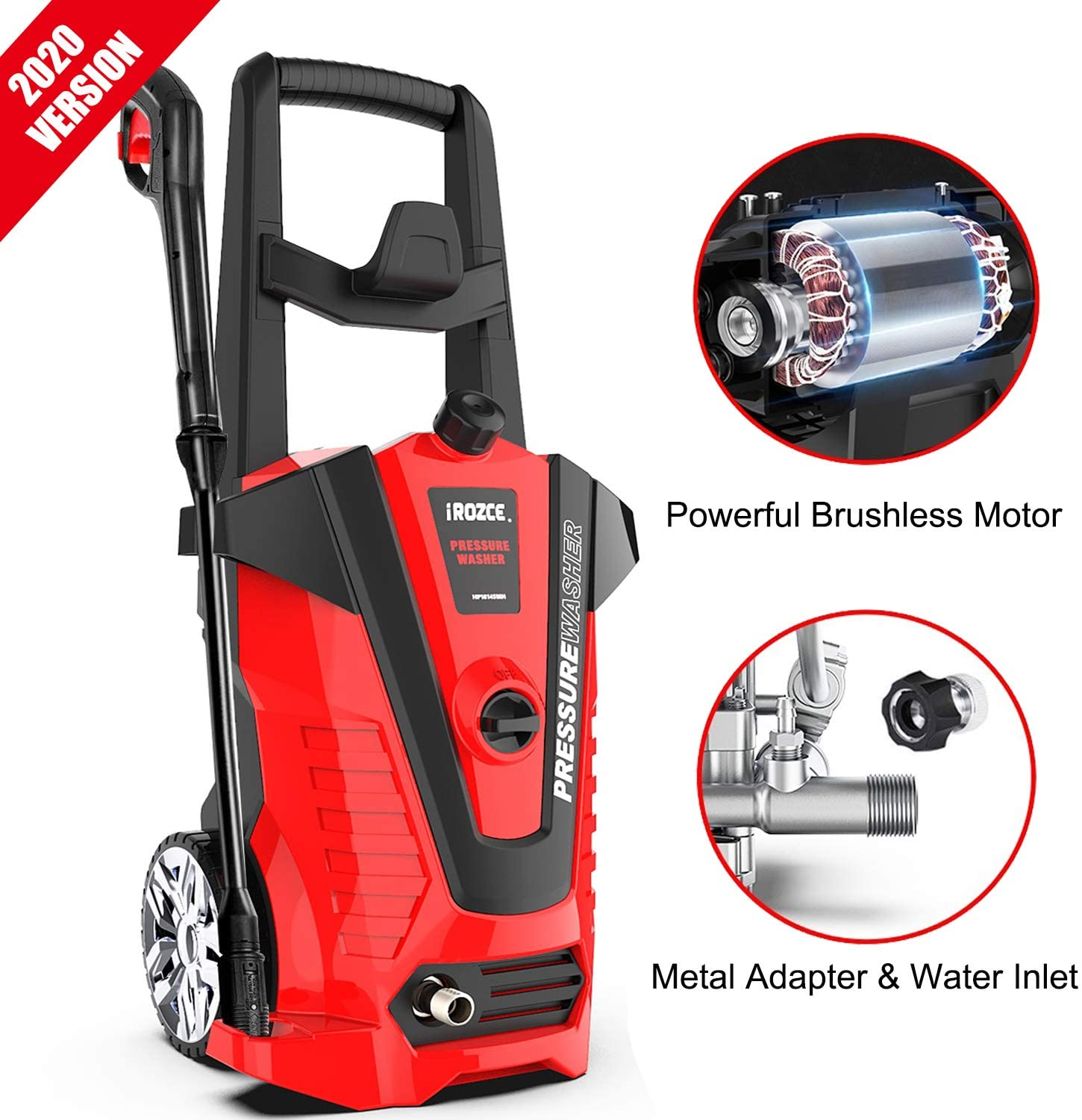 IRozce Pressure Washers 3000 PSI 1.85 GPM Max Electric