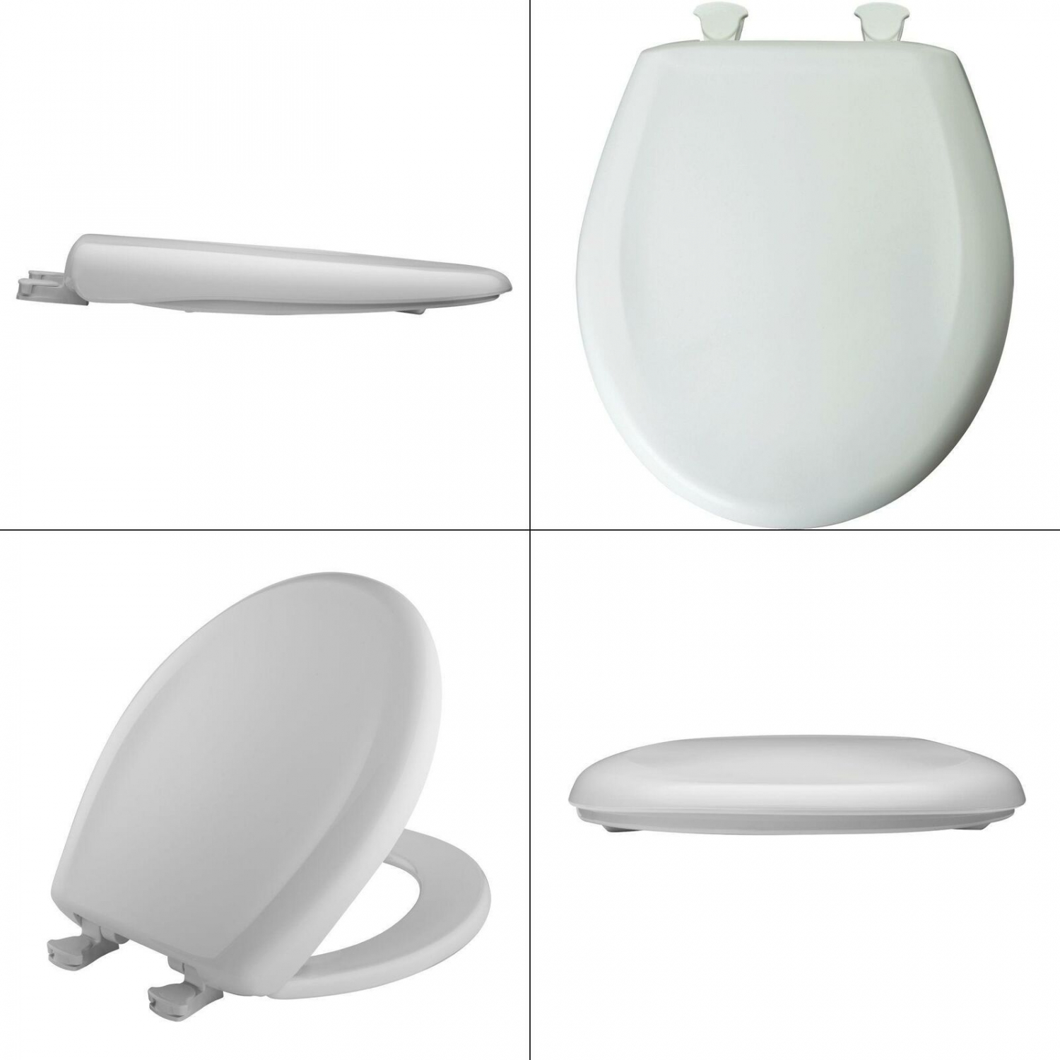 Easy Bemis 200SLOWT Round Closed-Front Toilet Seat and Lid with Whisper-Close®