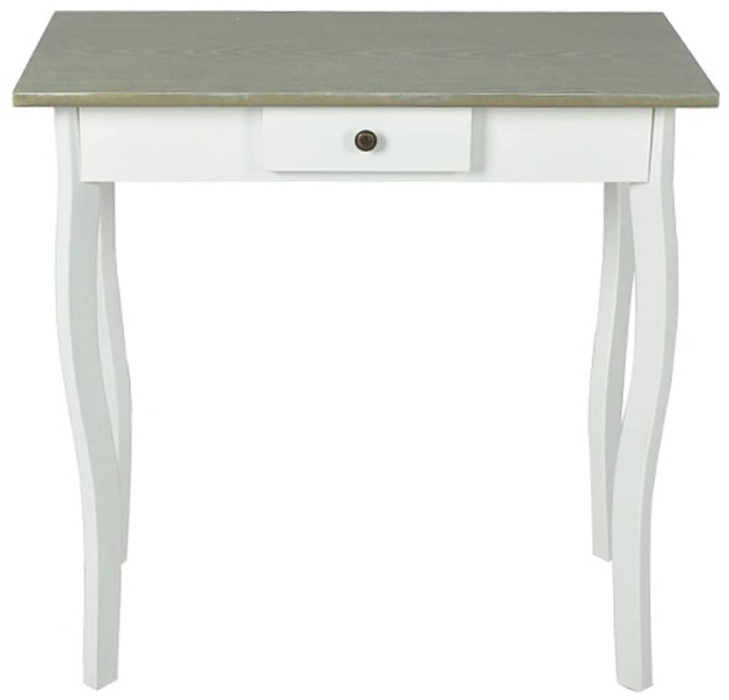 Small White Console Table Grey Top Hallway Storage Unit